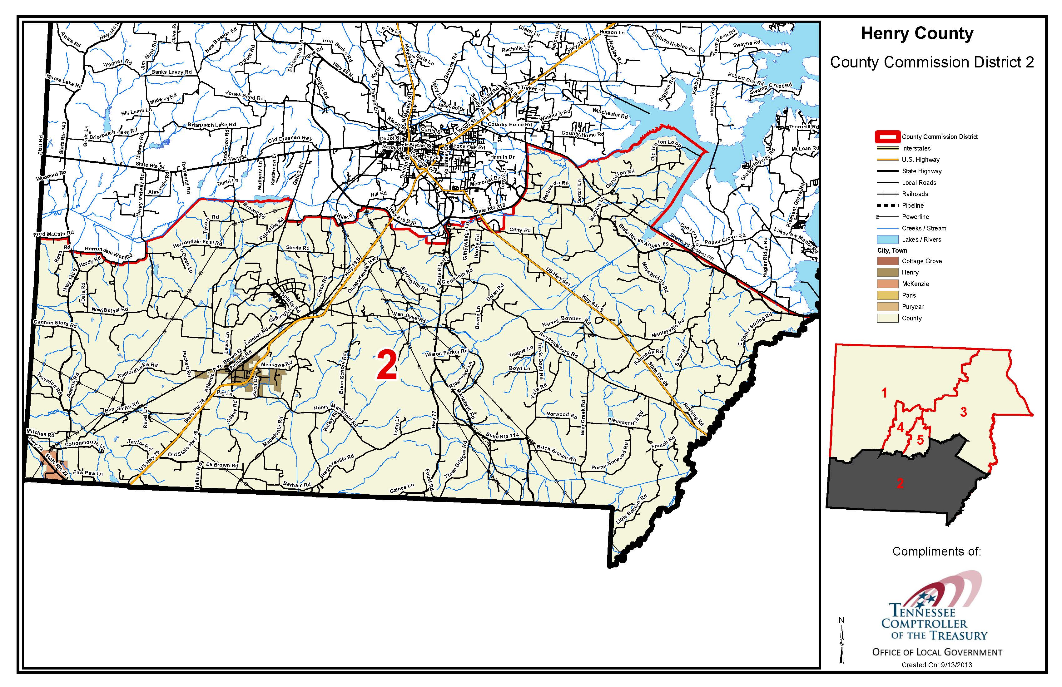 Commission district maps official site of henry county tn henry mansfield oakland freerunsca Image collections